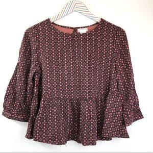 NEW Cooperative boxy 3/4 sleeve babydoll top